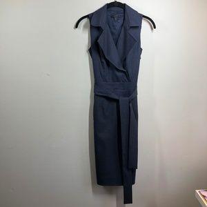 J Crew Trench Dress size 000 NAVY